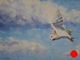 Barn owl in flight (SOLD)