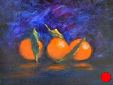 Oranges on blue (SOLD)