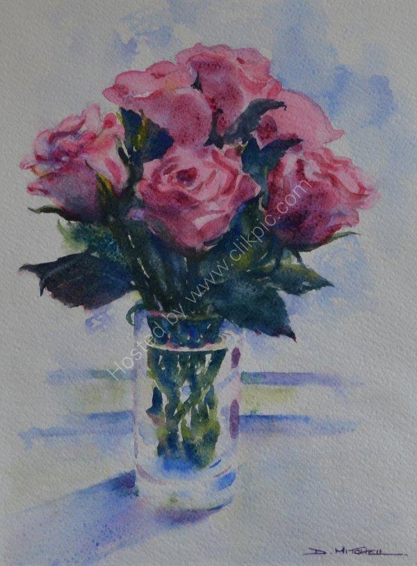 Roses on the Windowsill