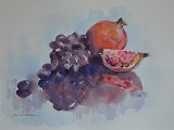 Pomegranate & Grapes