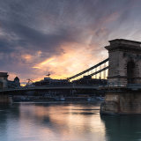 221-Dawn over the chain bridge Budapest