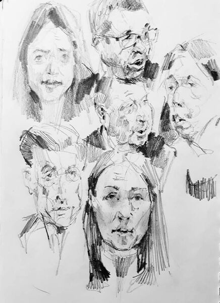 Drawing from live television