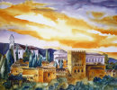 Alhambra Sunset, SOLD