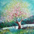 Wild cherry in bloom