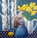 Daffodils and Birches...SOLD