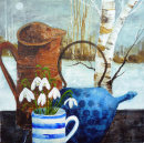 Tea and snowdrops - SOLD