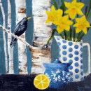 Blackbird & lemon - SOLD