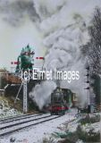 Great Western in the snow (A6 card)
