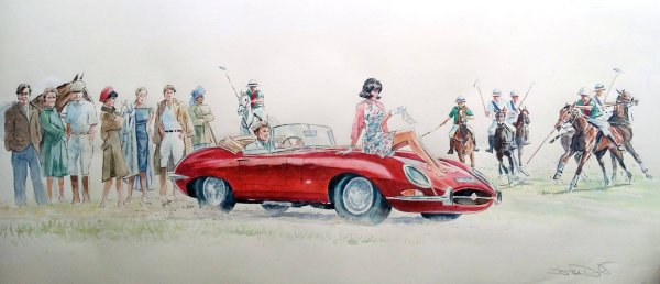 The Pass: E Type Jaguar Polo 1962