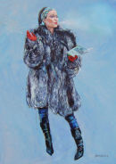 """Venus in furs Defiant""Original Oil on Canvas 36""x24""***SOLD***"