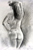 Original Life Drawing : rear view