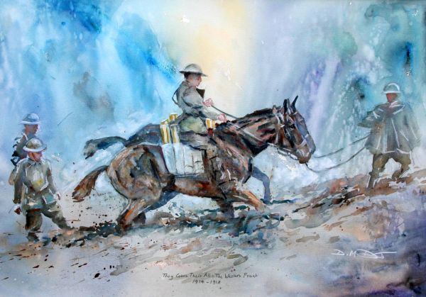 Original Watercolour: They Gave Their All: 'The Tommies'; Western Front 1914-18