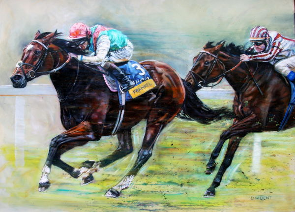 Greatest Horse Ever Tom Queally Jockey Drawing Art Canvas Pictures Frankel