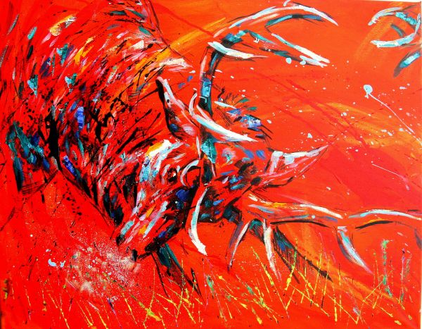 Red Deer Rut Panel 1