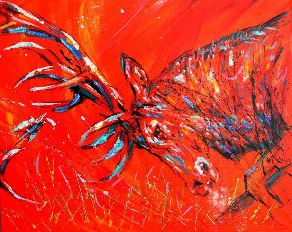 Red Deer Rut Panel 2