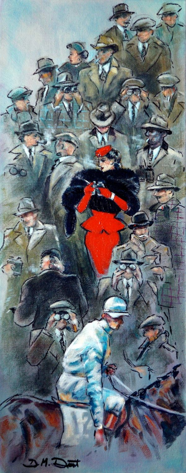 The Lady in Red Cheltenham 1950