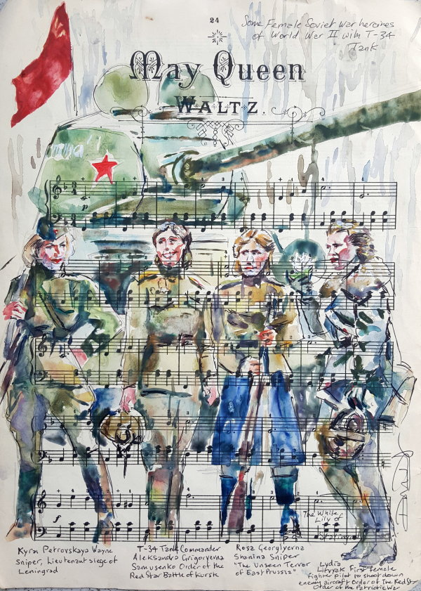 May Queens: Female Soviet War Heroes with a T-34 tank