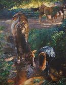 """You Can Take a Horse to Water...""Original oil on canvas D.M.Dent20""x30""£2250"
