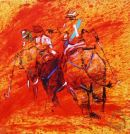 "High Noon at Jaipur #2  giclee 22""x22"" with original artwork"