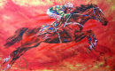 """Firepower"" Istabraq By David Dent and L.Peytong ltd edition of 250 600 x 380 mm with original work"