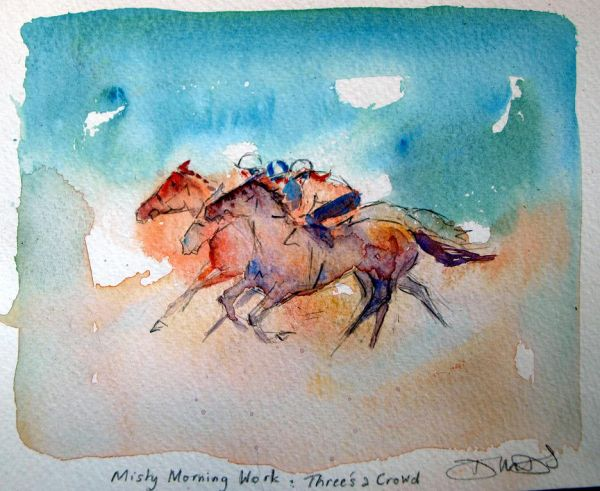 Misty Morning Work: Three's a Crowd SOLD