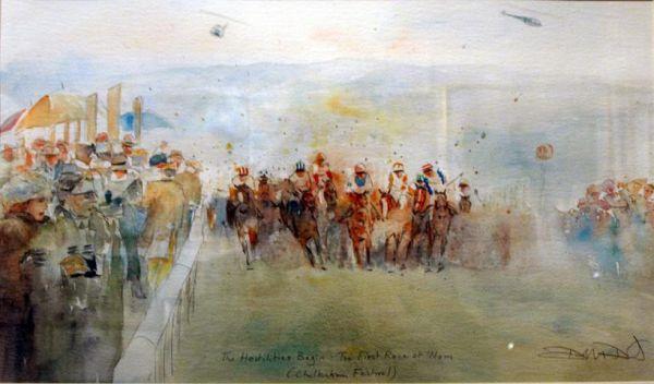 Cheltenham original WatercolourSOLD
