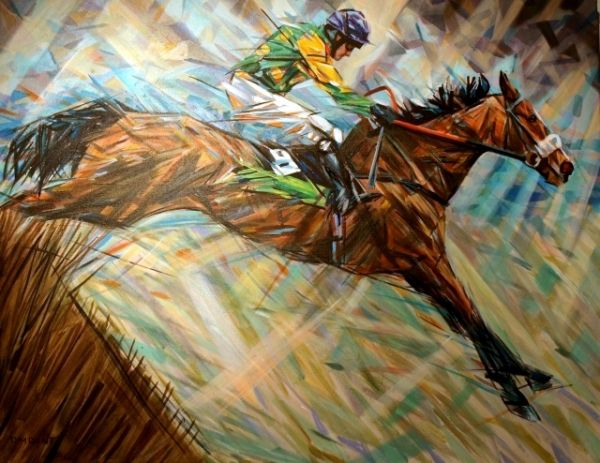 Horse Power: Panel #2: Kauto Star36x24 inches SOLD