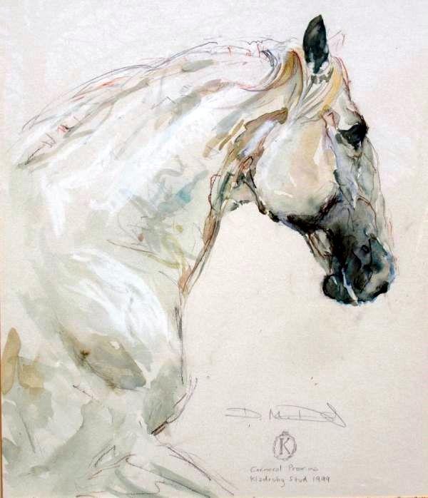 On white horses...snowy white horses