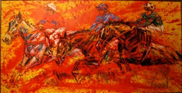 """In the Air Together<br> <br> 36""""x24"""" Oil/Canvas<br> <br> SOLD"""