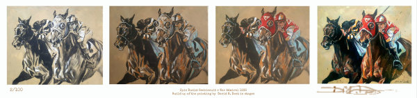 Epic Duels: Seabiscuit v War Admiral Painting Build up