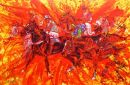 """Sans Panache"" : Amateur riders steeplechase point to point28""x18""giclee with original work D.M.Dent edition 200"
