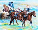 Voy Por Ustedes wins the Queen Mother champion Chase cheltenham.Original Oil Canvas D.M.Dent **SOLD**