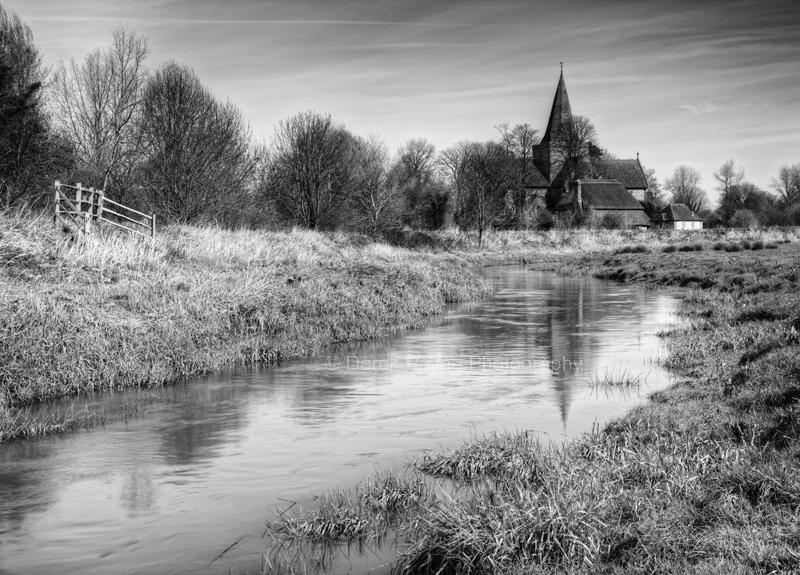 Cuckmere River and Alfriston church, Alfriston, East Sussex
