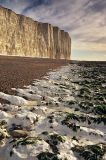 Coastal chalk formation and cliffs, Birling Gap, East Sussex