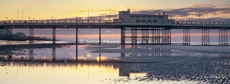 Worthing Pier at sunrise. Worthing, West Sussex