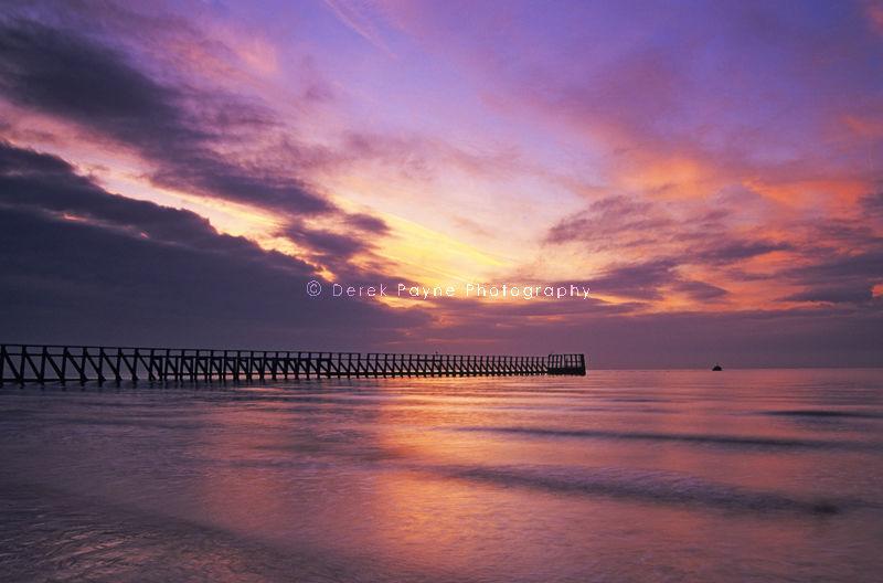 Harbour Pier at sunrise 2. Littlehampton,West Sussex.