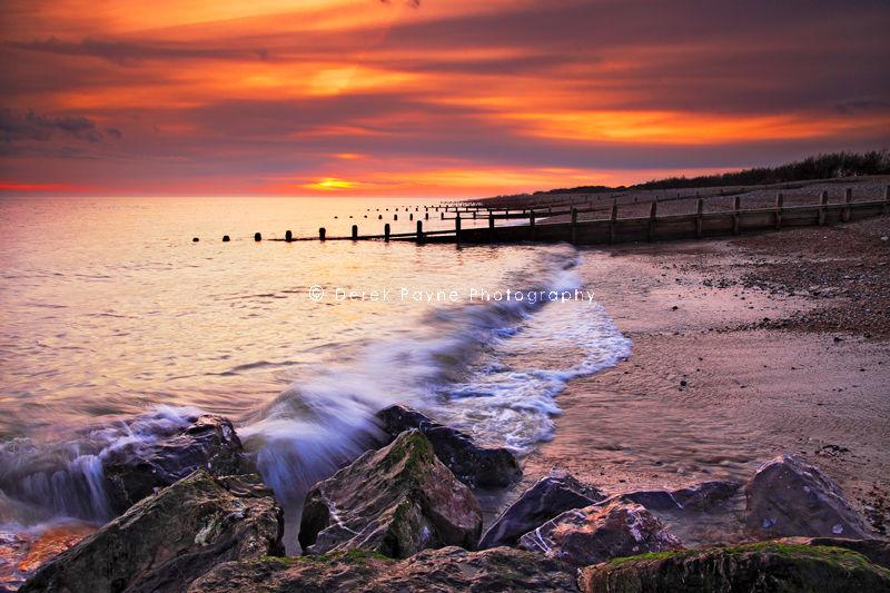 Sea lane sunset, Goring beach