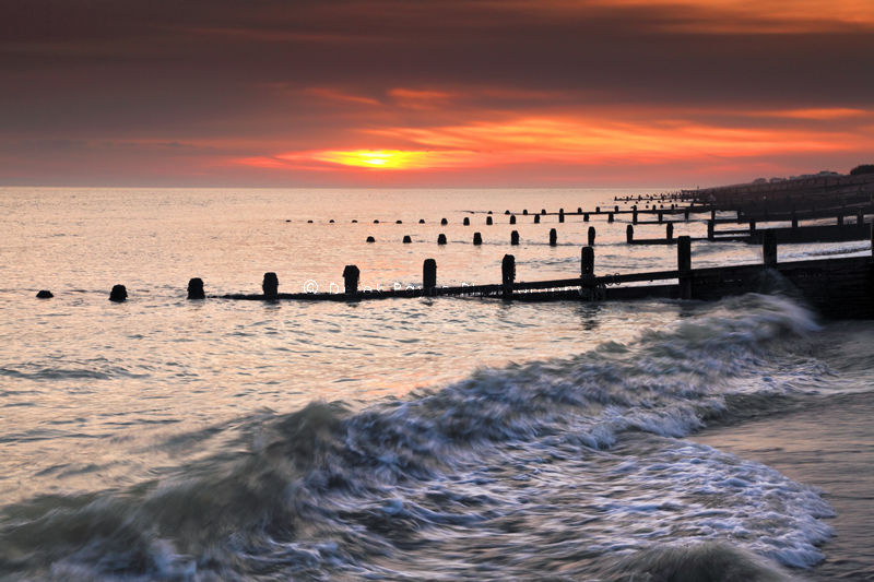 Sunset, Goring beach