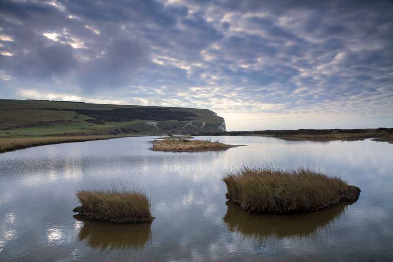 Cuckmere Haven at dusk.