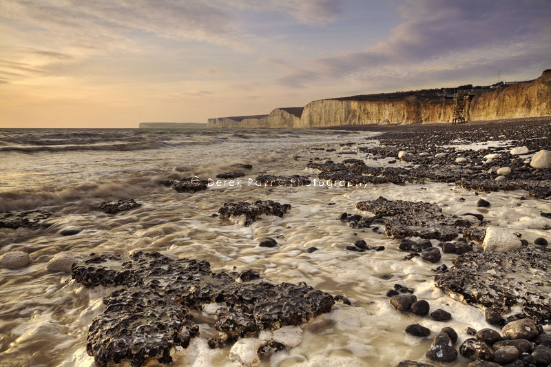 View of Seven Sisters in evening light