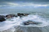 Receding tide.