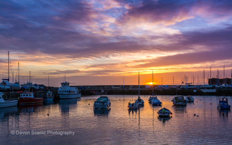 Paignton Harbour Sunrise P28