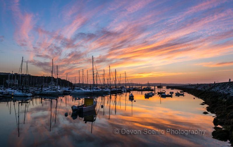 Brixham Breakwater Sunset B15