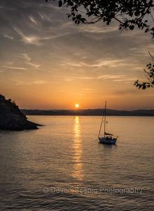 Sunset at Fishcombe Cove, B17