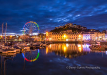 Torquay Harbour At Night TW26