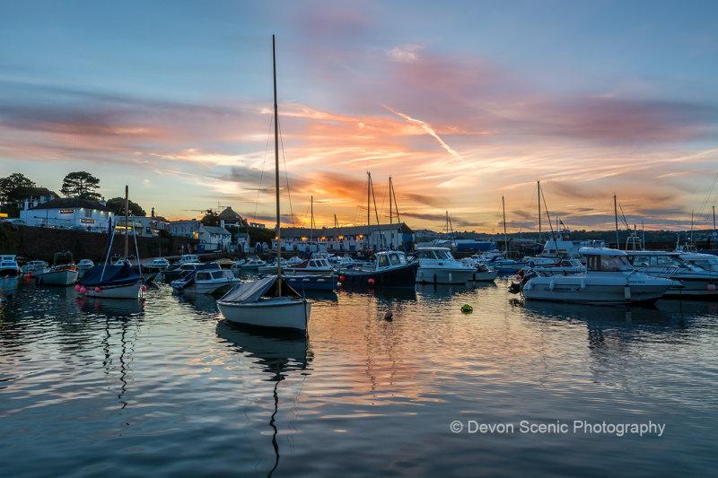 Paignton Harbour Sunset P29