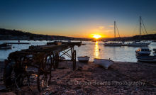 Sunset at Morgans Quay, Teignmouth DV23