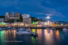 Torquay Harbour By Moonlight T132