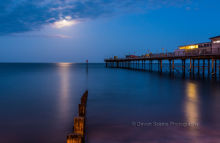 Teignmouth Pier Moonlight DV34