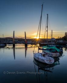 Torquay Harbour Sunset T69